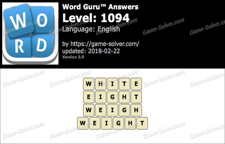 Word Guru Level 1094 Answers