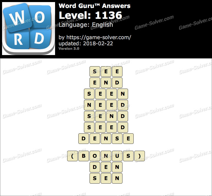 Word Guru Level 1136 Answers