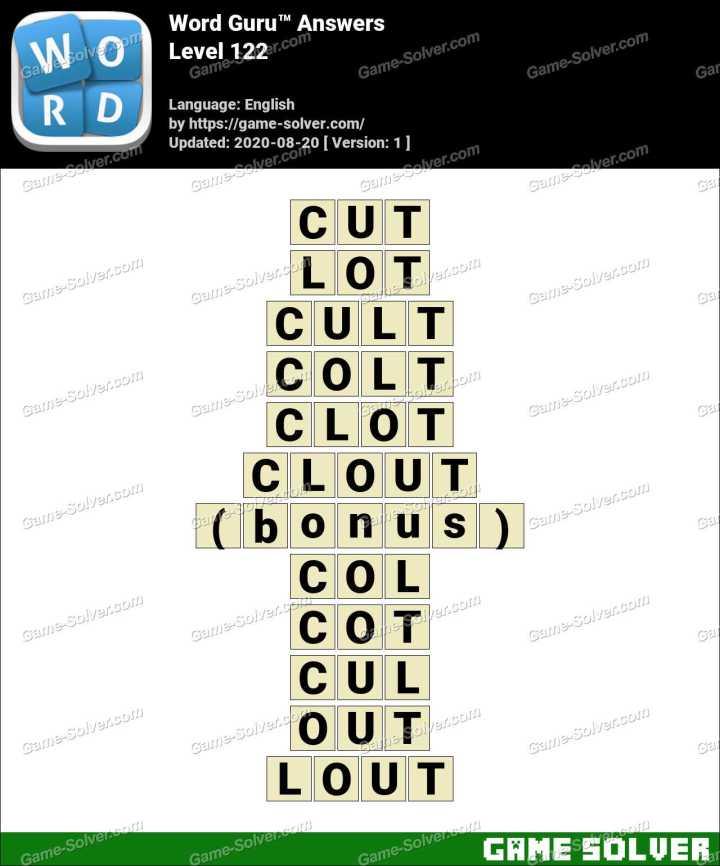 Word Guru Level 122 Answers