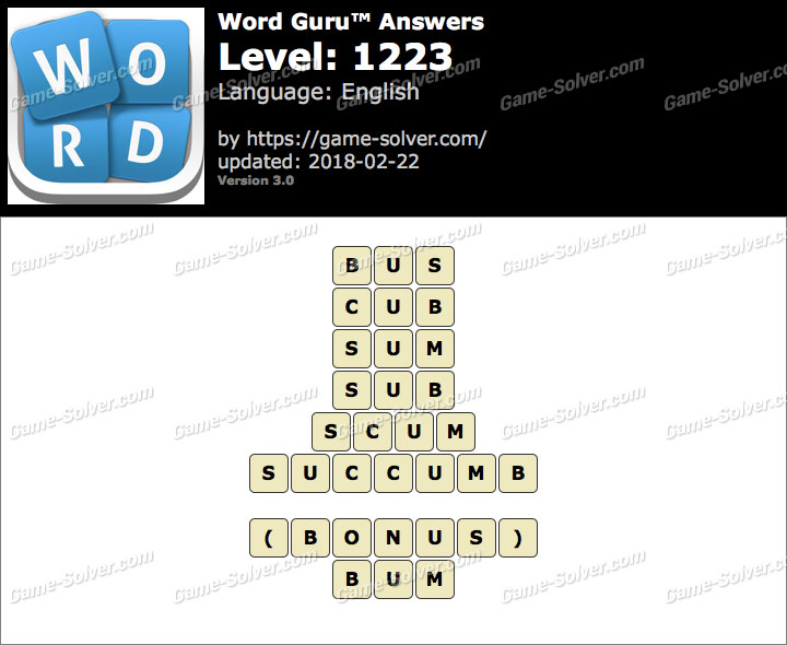 Word Guru Level 1223 Answers