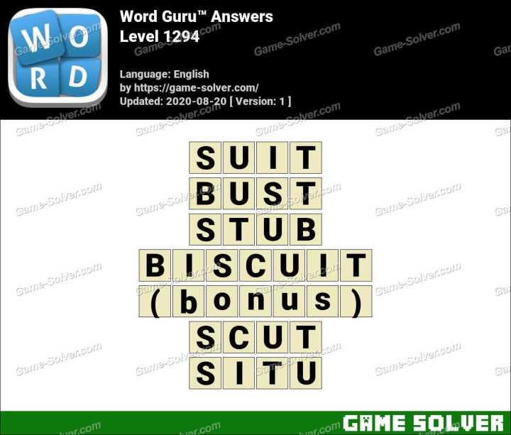 Word Guru Level 1294 Answers