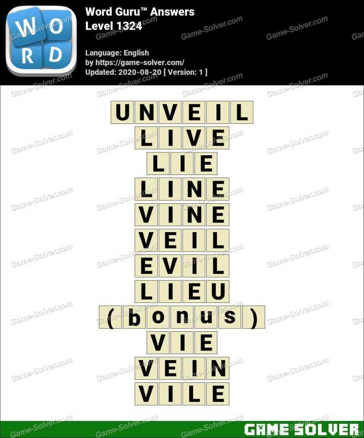 Word Guru Level 1324 Answers