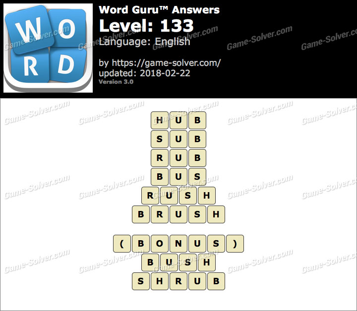Word Guru Level 133 Answers