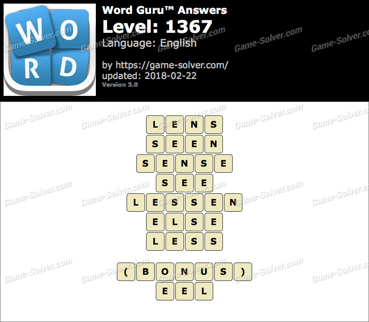 Word Guru Level 1367 Answers