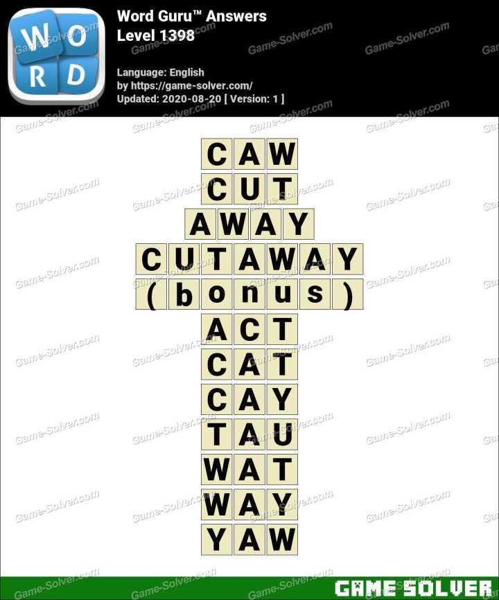 Word Guru Level 1398 Answers