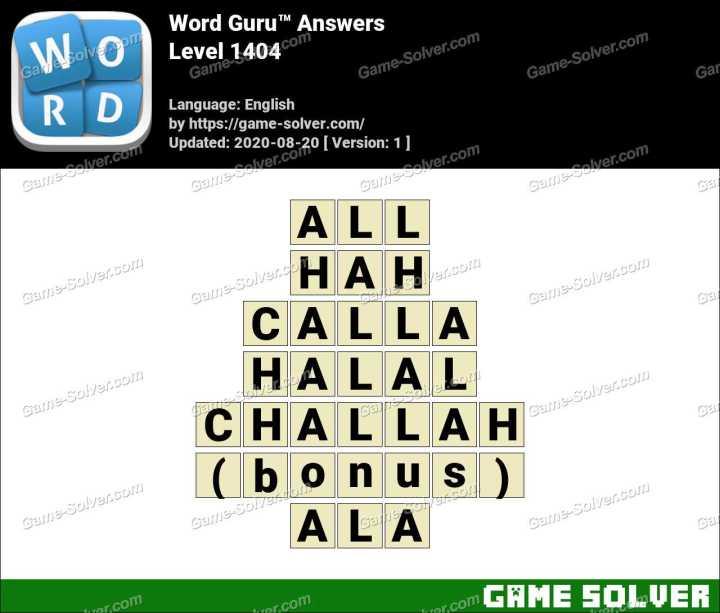 Word Guru Level 1404 Answers