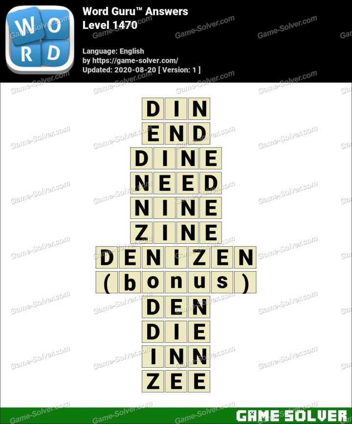 Word Guru Level 1470 Answers