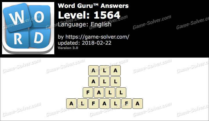 Word Guru Level 1564 Answers