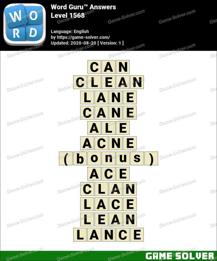 Word Guru Level 1568 Answers