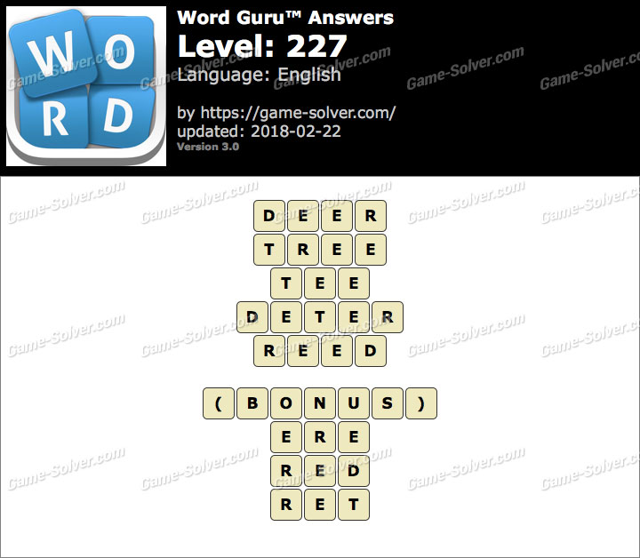 Word Guru Level 227 Answers