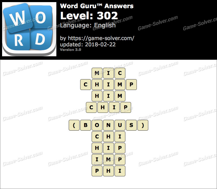 Word Guru Level 302 Answers