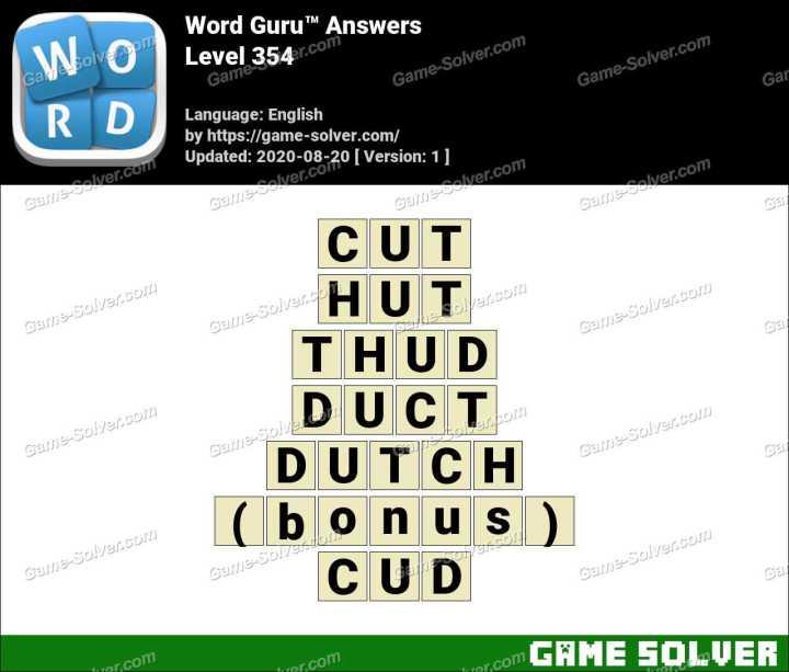 Word Guru Level 354 Answers