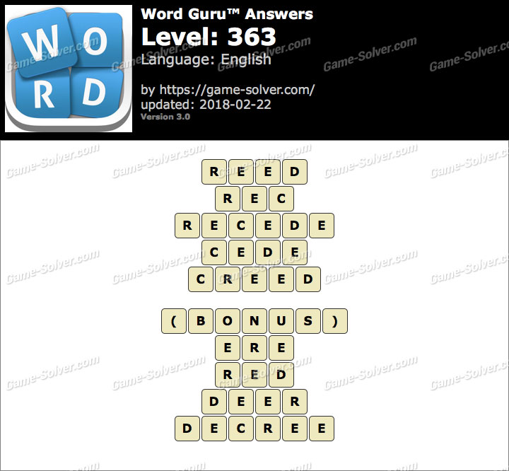Word Guru Level 363 Answers