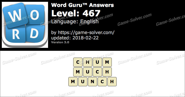 Word Guru Level 467 Answers