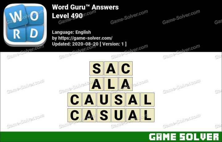 Word Guru Level 490 Answers