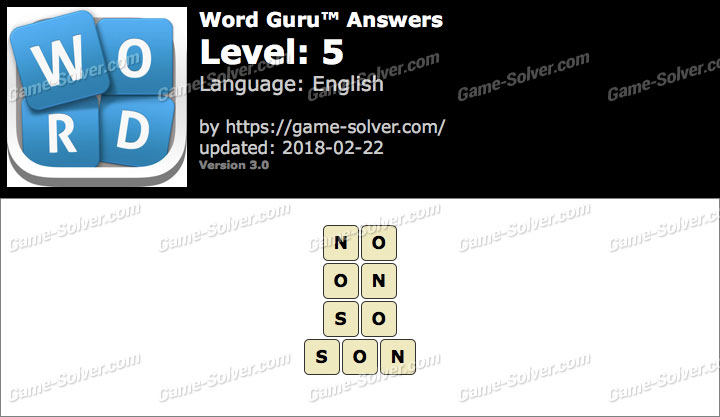 Word Guru Level 5 Answers