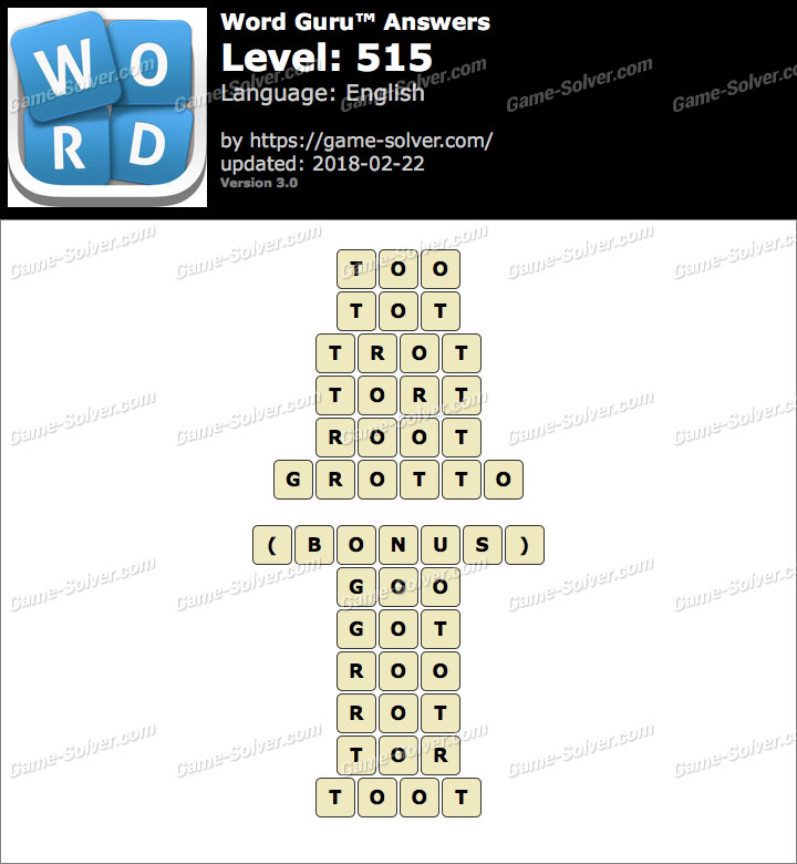 Word Guru Level 515 Answers