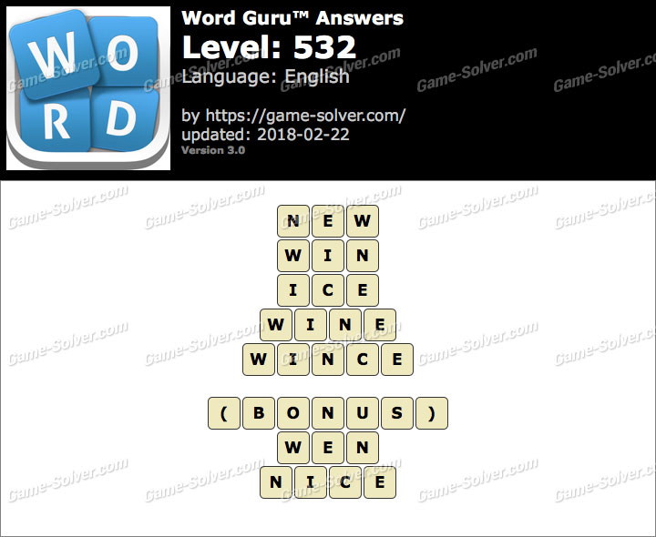 Word Guru Level 532 Answers