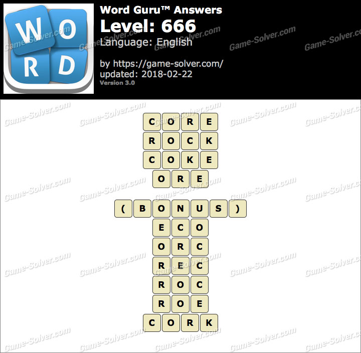 Word Guru Level 666 Answers