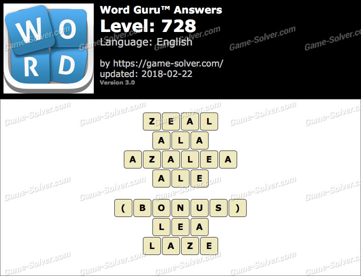 Word Guru Level 728 Answers