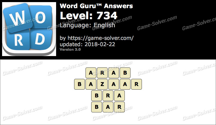 Word Guru Level 734 Answers
