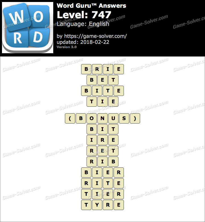 Word Guru Level 747 Answers