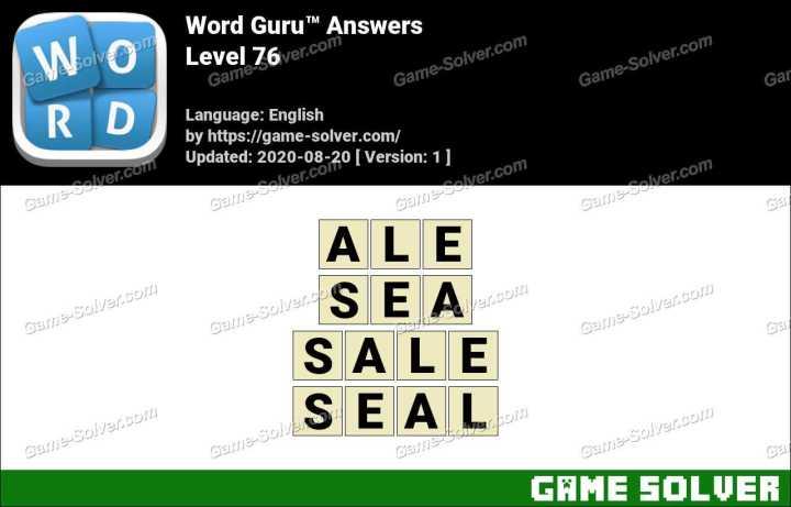 Word Guru Level 76 Answers