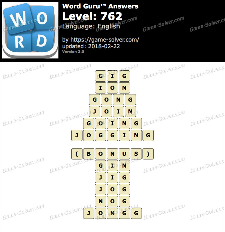 Word Guru Level 762 Answers