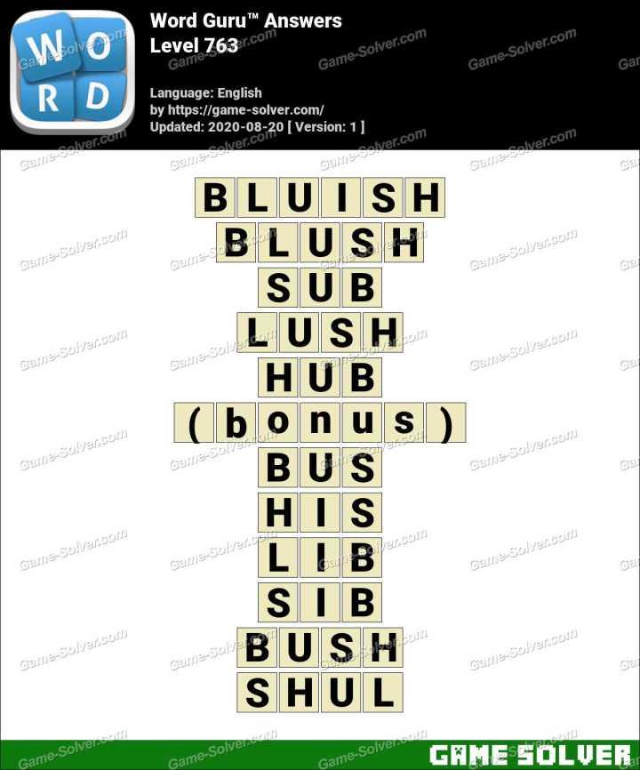 Word Guru Level 763 Answers