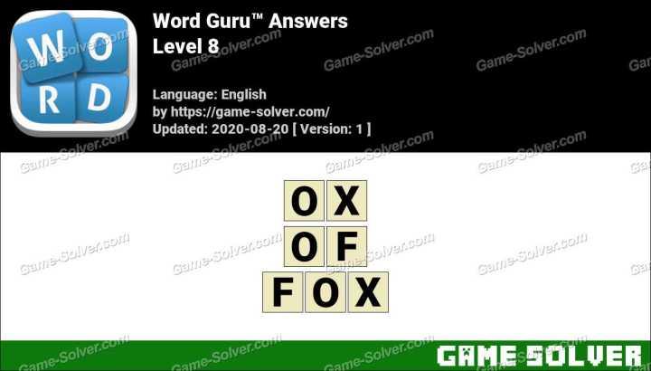 Word Guru Level 8 Answers