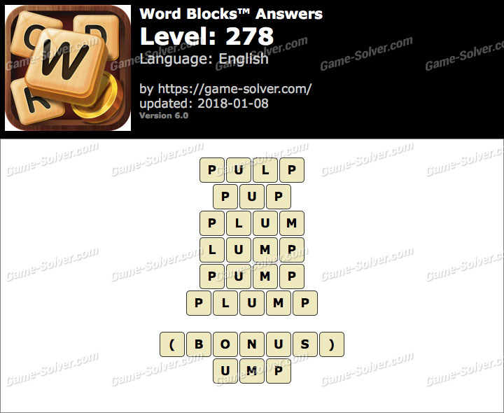 Word Blocks Level 278 Answers