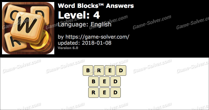 Word Blocks Level 4 Answers