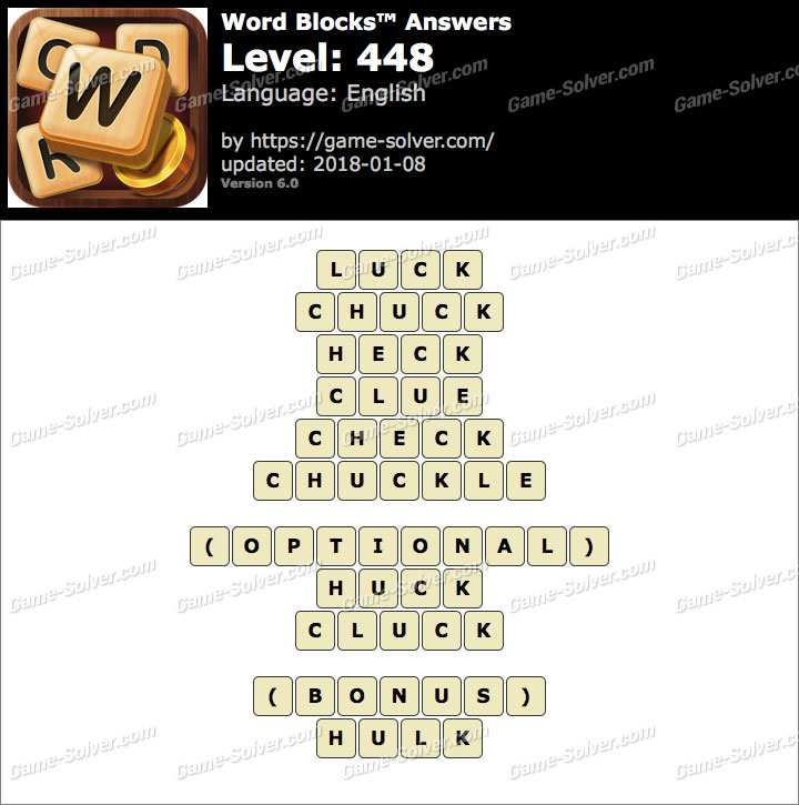 Word Blocks Level 448 Answers