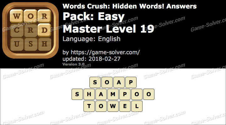 Words Crush Easy-Master Level 19 Answers