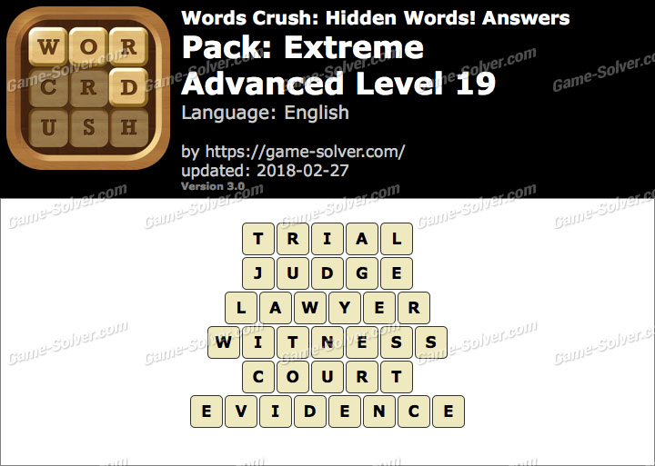 Words Crush Extreme-Advanced Level 19 Answers