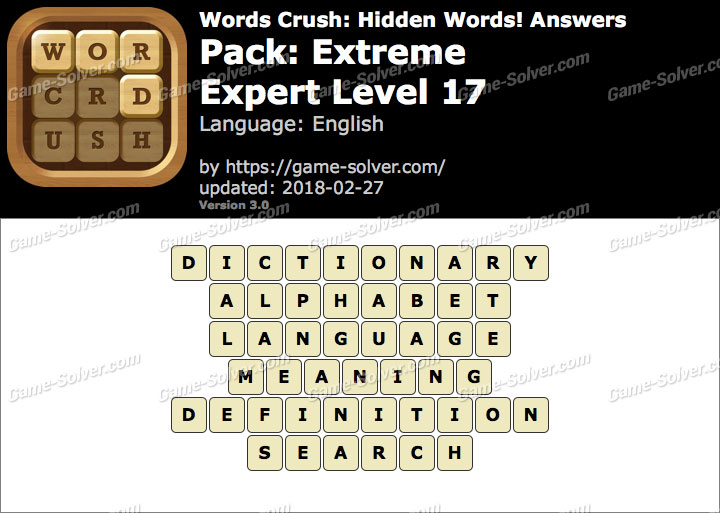 Words Crush Extreme-Expert Level 17 Answers