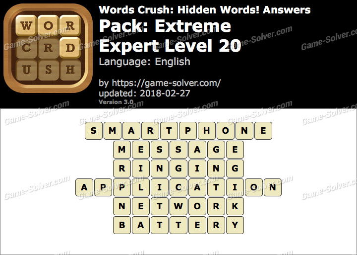 Words Crush Extreme-Expert Level 20 Answers