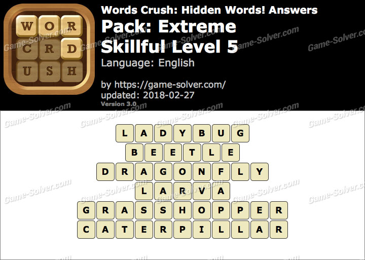 Words Crush Extreme-Skillful Level 5 Answers