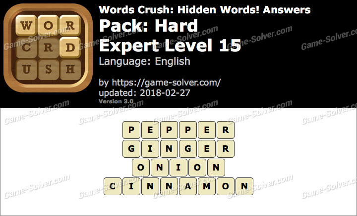 Words Crush Hard-Expert Level 15 Answers