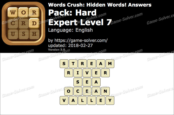 Words Crush Hard-Expert Level 7 Answers