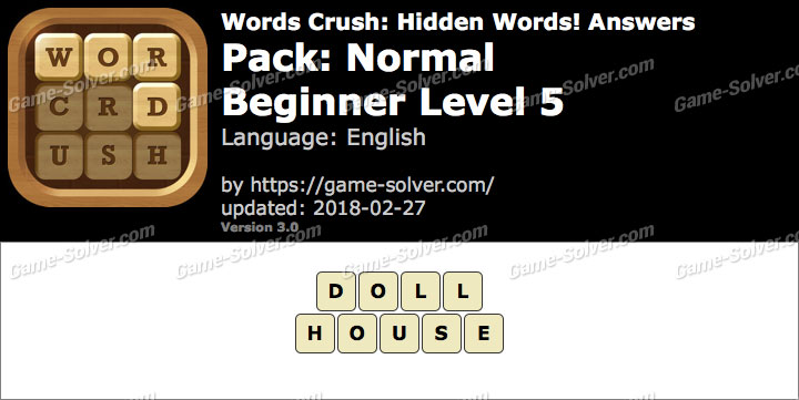 Words Crush Normal-Beginner Level 5 Answers