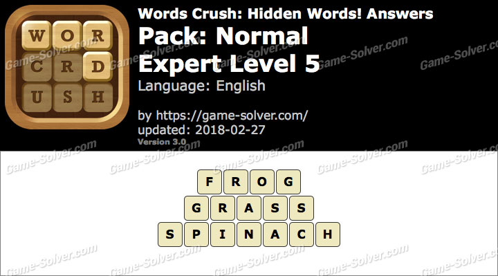 Words Crush Normal-Expert Level 5 Answers