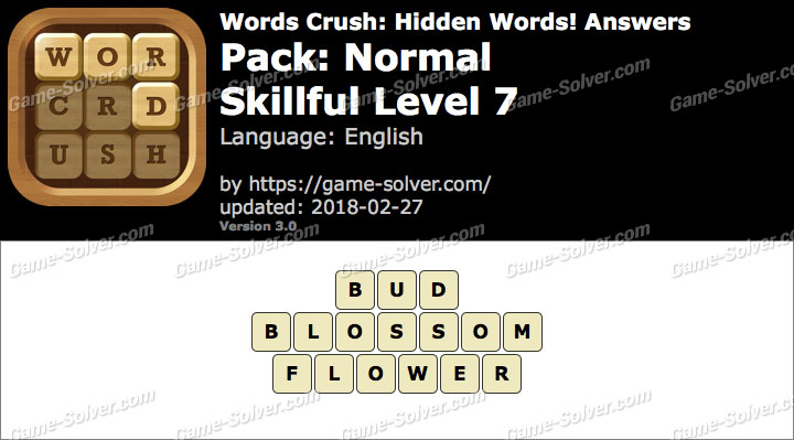 Words Crush Normal-Skillful Level 7 Answers