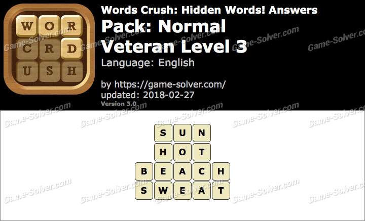 Words Crush Normal-Veteran Level 3 Answers