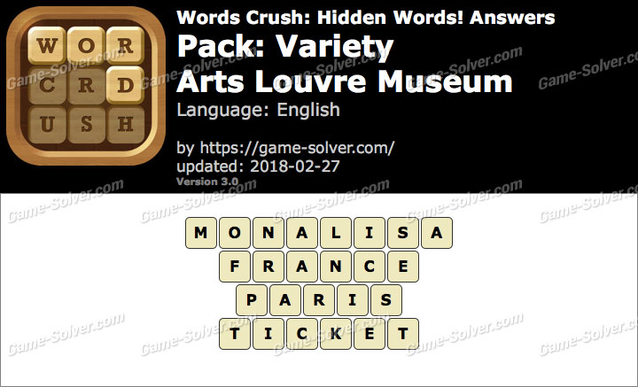 Words Crush Variety-Arts Louvre Museum Answers
