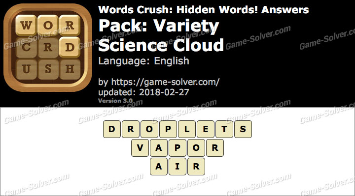 Words Crush Variety-Science Cloud Answers