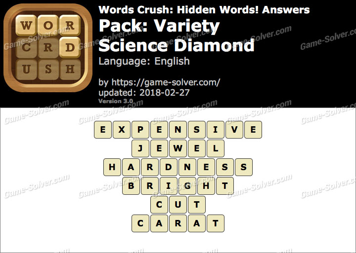 Words Crush Variety-Science Diamond Answers