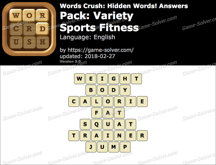 Words Crush Variety-Sports Fitness Answers