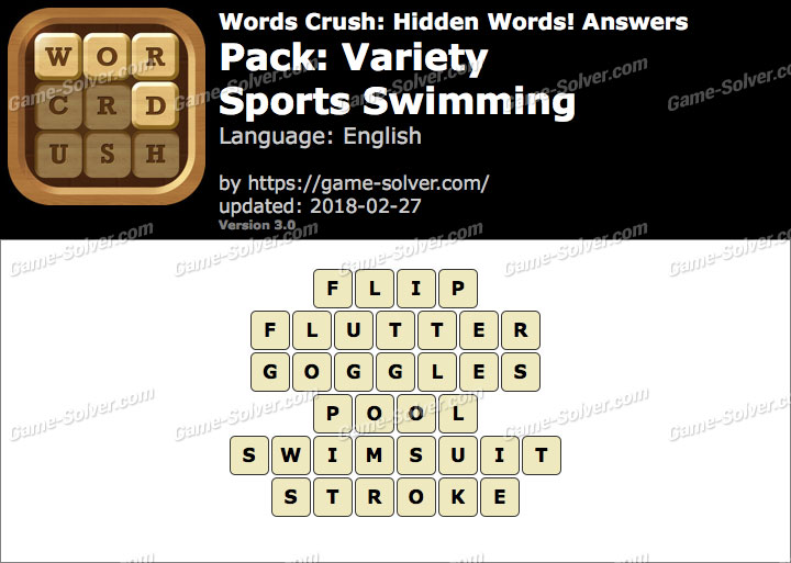 Words Crush Variety-Sports Swimming Answers