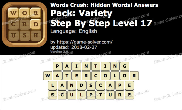 Words Crush Variety-Step By Step Level 17 Answers